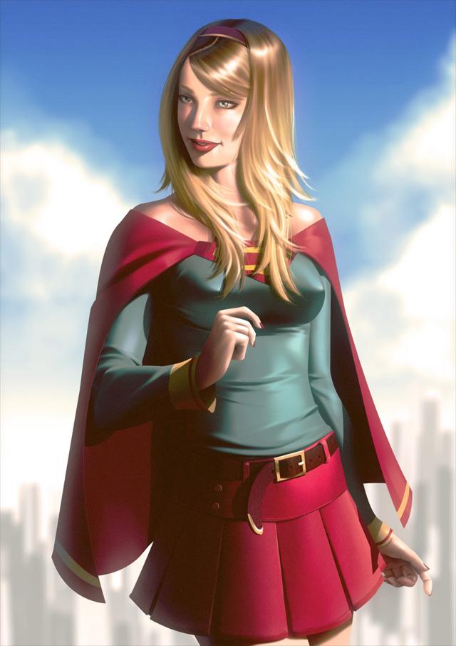Ilustração de lindas super-heroínas por Leandro Franci
