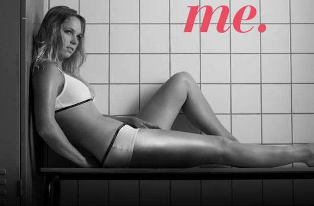 Musa do tênis, Caroline Wozniacki só de lingerie