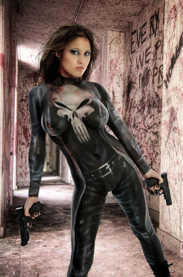 the-punisher-body-paint