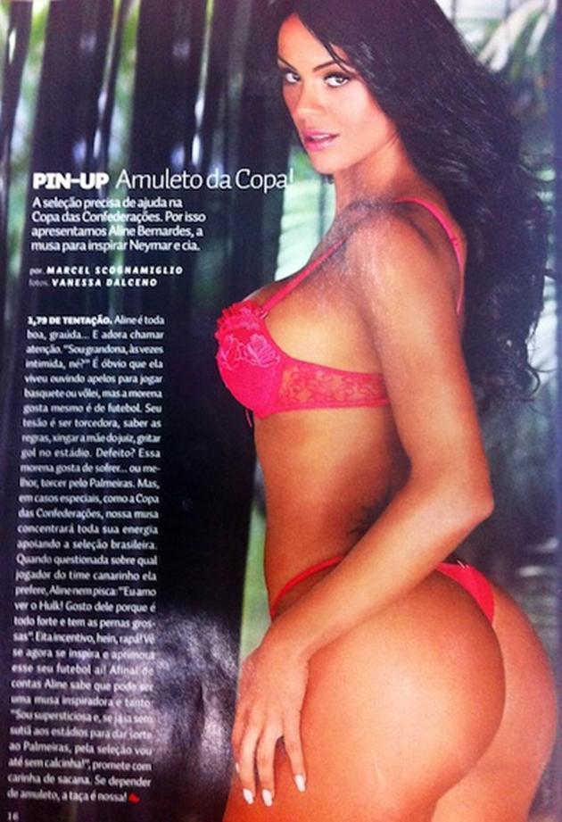 Revista sexy Aline Bernardes