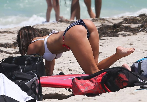 Claudia Romani Shows Off Her Flag Bikini In Miami