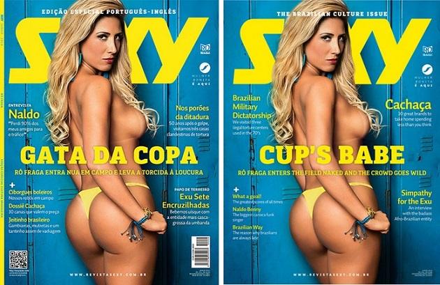 Rô Fraga capa da revista sexy de Junho
