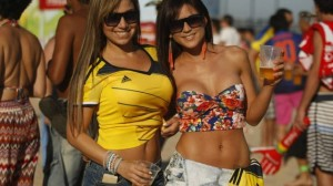 As lindas torcedoras colombianas