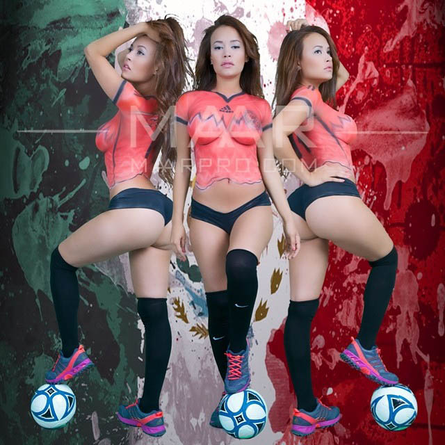 As melhores body paint da copa do mundo no Instagram