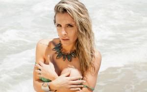 Joana Machado no ensaio para revista Quem