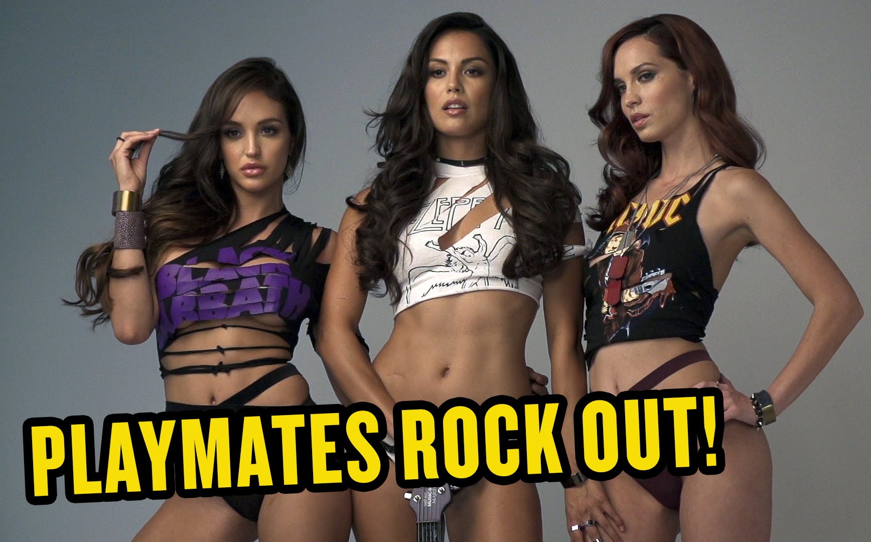 Playmates Rock Out For Guitar World
