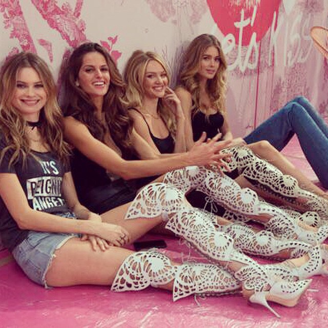 Backstage Victoria's Secret fashion show 2014