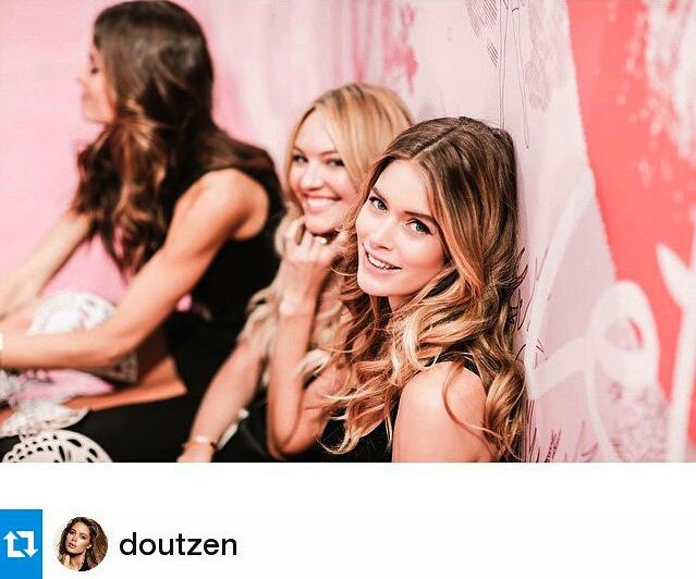 Backstage Victoria's Secret fashion show 2014