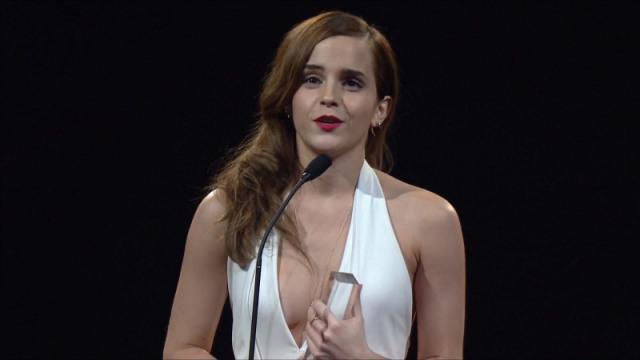 Emma Watson no British Fashion Awards