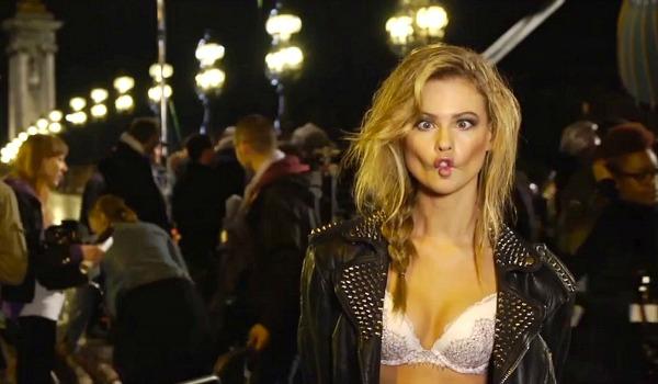 Erros de gravação de um vídeo promocional da Victoria's Secret