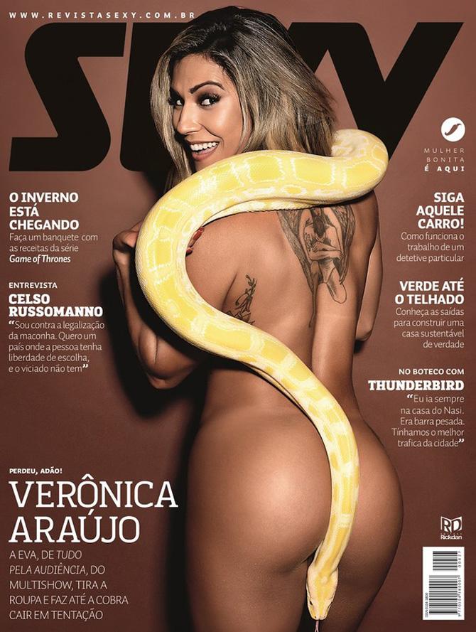 Verônica Araújo capa da revista sexy