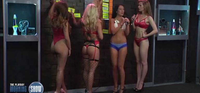 The Playboy Morning Show e mulheres de lingerie
