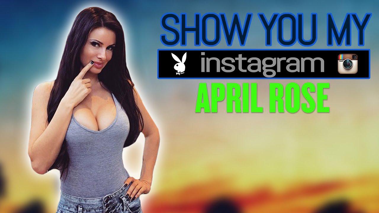 April Rose mostrando o seu Instagram