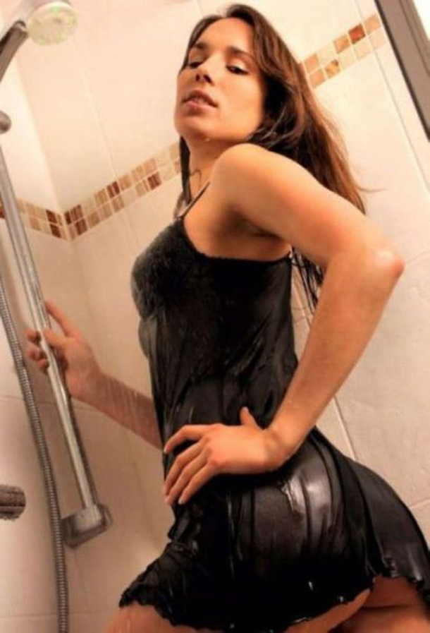 hot-girl-in-wet-black-dress-in-the-shower