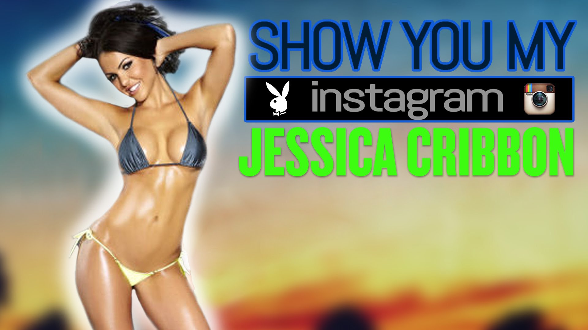 Jessica Cribbon apresentando o seu instagram