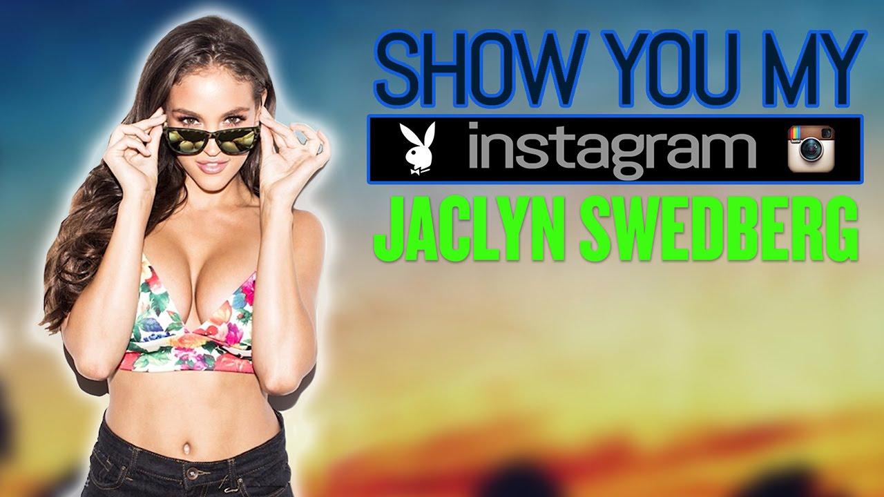 Jaclyn Swedberg mostrando o seu Instagram