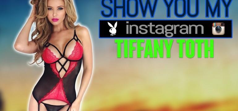 Tiffany Toth apresentando o seu instagram