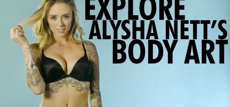 Alysha Nett mostrando todas as suas tattoos