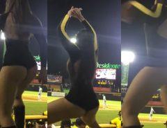 Cheerleader de partida da MLB fazendo twerking é sensacional