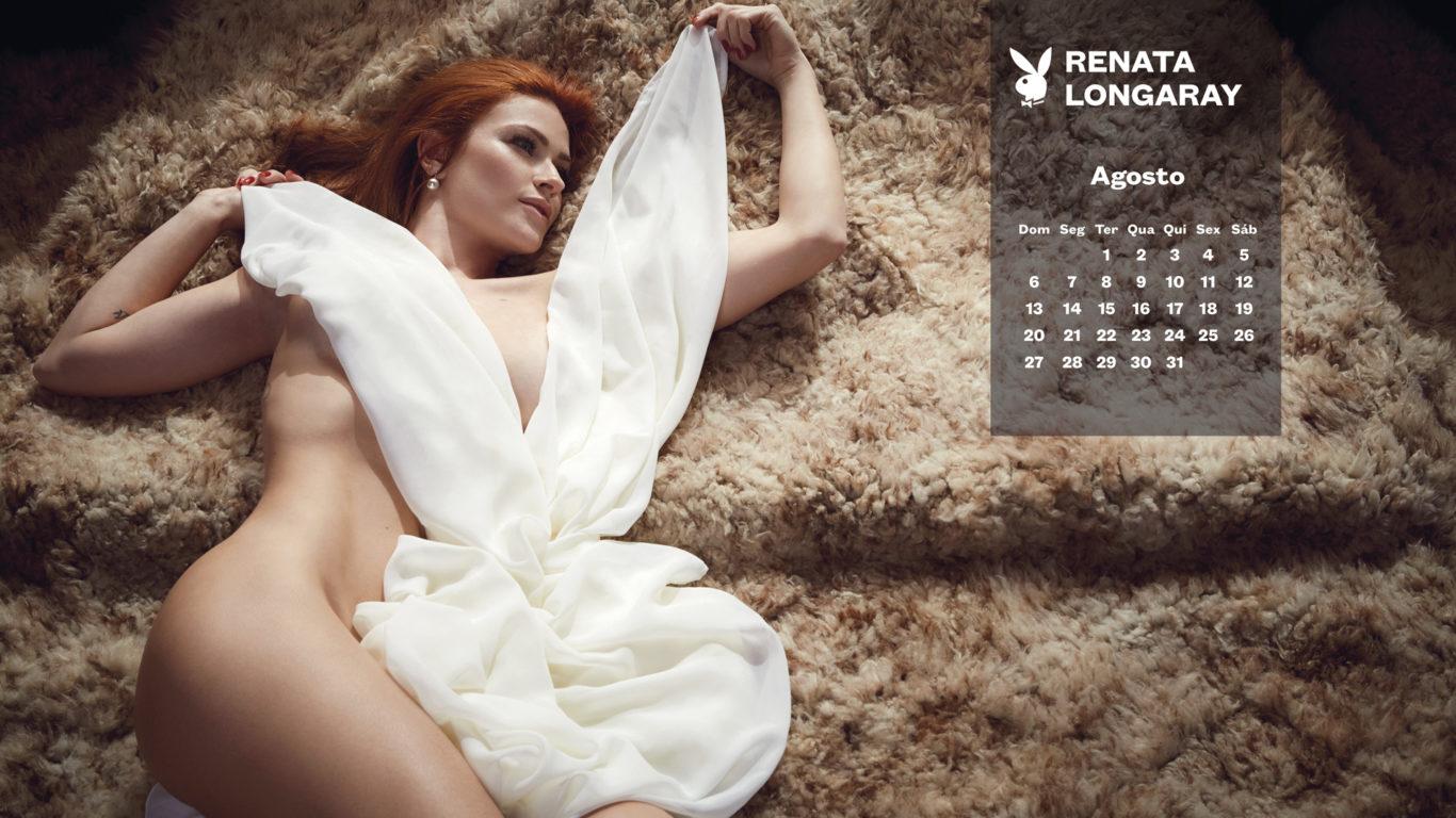 Calendário da playboy com Renata Longaray