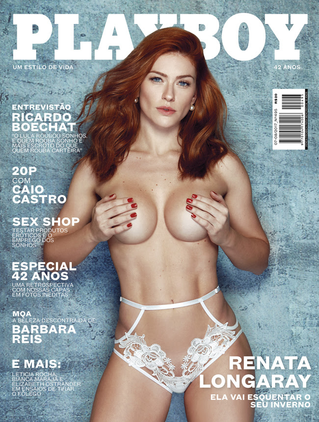 Renata Longaray na capa da Playboy de inverno
