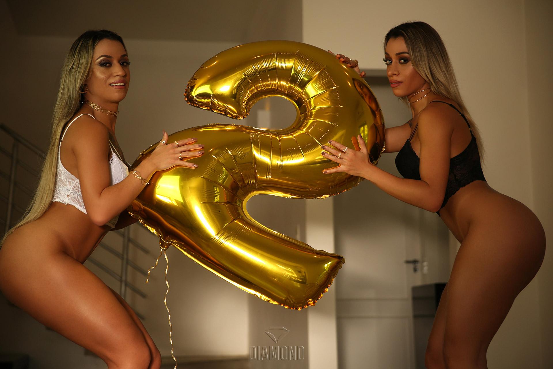 Gêmeas Graziella e Rafaella Fornazieri