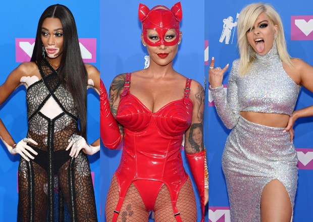Os belos decotes, transparencias e vestidos do VMA 2018